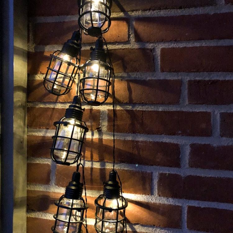 Solcells-ljusslinga CAGE