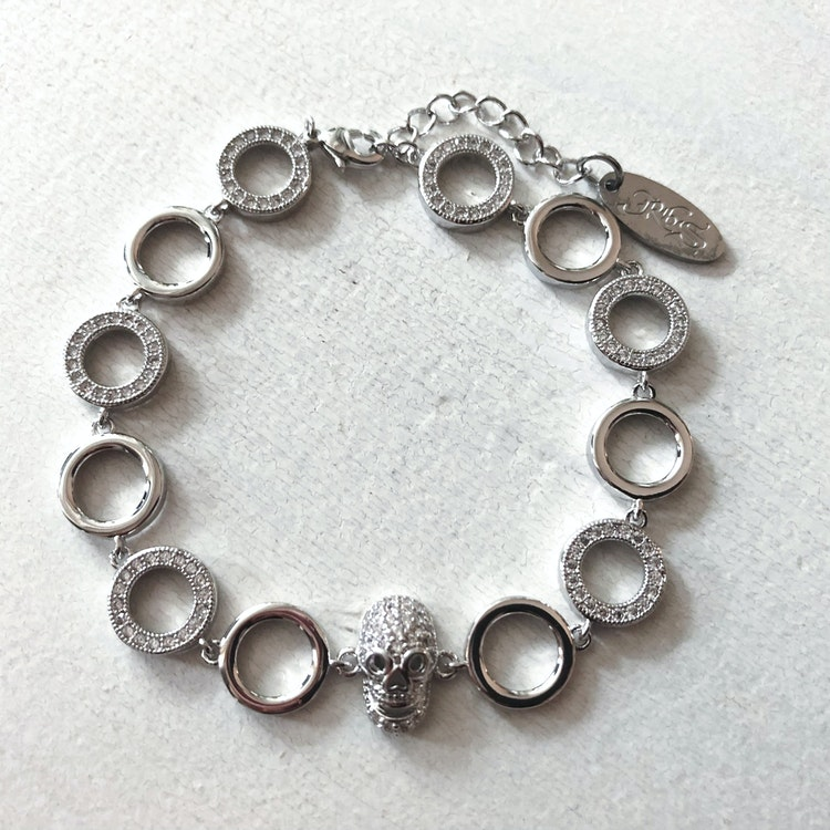 Perpetuity armband white - Rock by Sweden