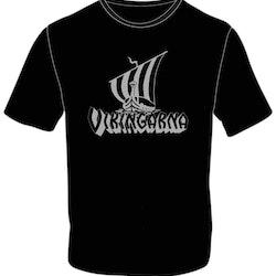 T-shirt Vikingaskepp Silvertryck