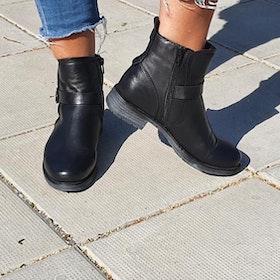 Rosa Negra Zipper Boot Warm lining