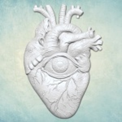 ProSvet Silikonform, Heart with eye Small