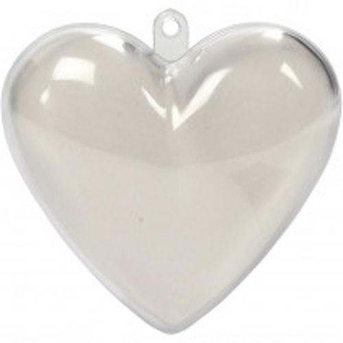 Akrylhjärta, ca 6cm hög