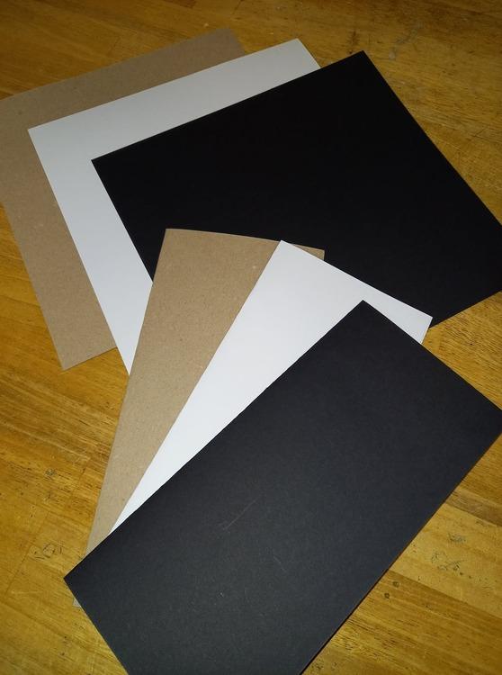 Slim line cardstock 20x21 cm Svart 10 st