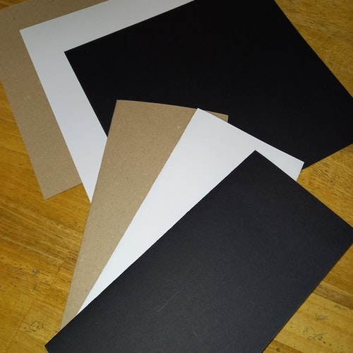 line cardstock 20x21 cm Svart 100 st