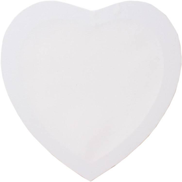Canvas, målarduk, Hjärta ca 40 cm