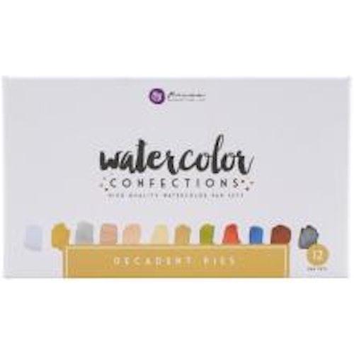Prima Confections Watercolor Pans 12/Pkg - Decadent Pies