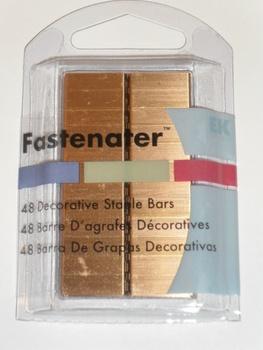 Fastenater Dec Staple Bars, Blank Copper 48st