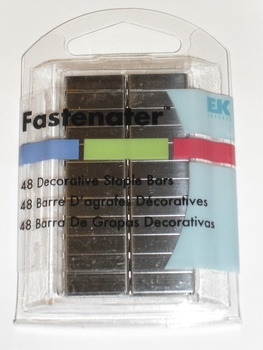 Fastenater Dec Staple Bars, Blank Pewter 48st