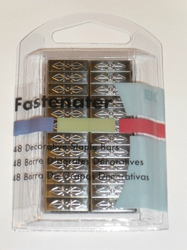 Fastenater Dec Staple Bars, Venice Pewter 48st