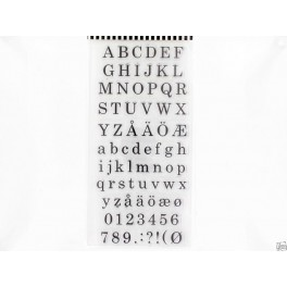 YD Clearstamps 10x20cm Alphabet and numbers