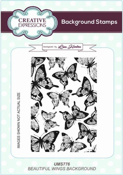Creative Expressions, Beautiful Wings A6 Background Stamp