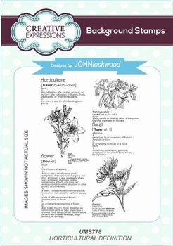 Creative Expressions, Horticultural Definition A6 Background Stamp
