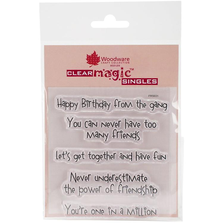 Woodware clearstamp, Happy birthday