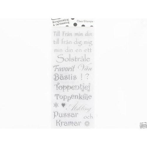 YD Clearstamps Text, Till från