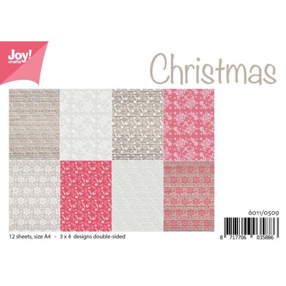 Joy!Crafts, A4 Papper 12st - Christmas