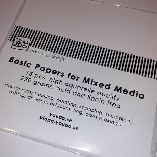 Basic papers for mixed media, 15 st, 220 gram