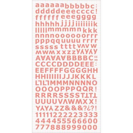 Kaisercraft Alphabet Stickers 6X12 Sheet - Coral