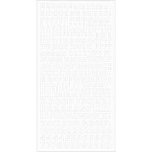 Kaisercraft Alphabet Stickers 6X12 Sheet - White