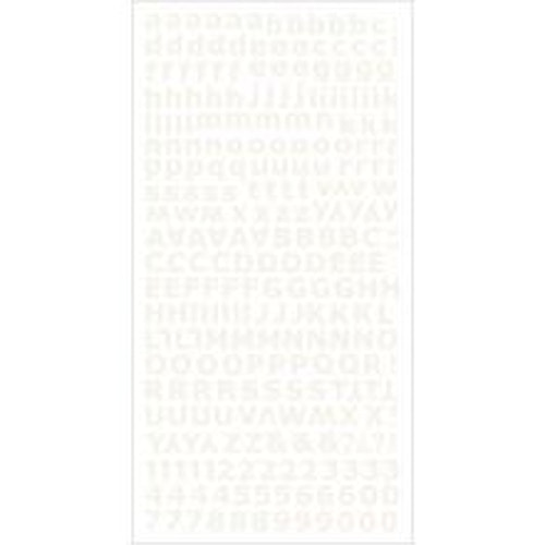 Kaisercraft Alphabet Stickers 6X12 Sheet - Ivory