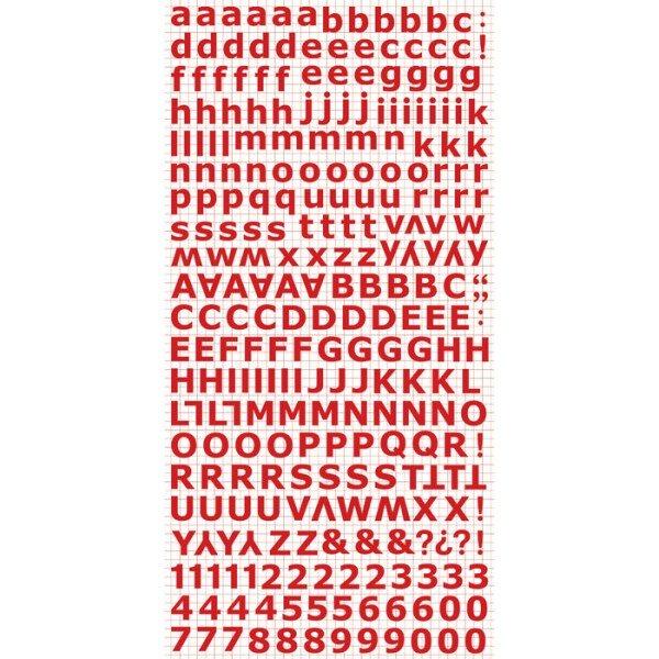 Kaisercraft Alphabet Stickers 6X12 Sheet - Red