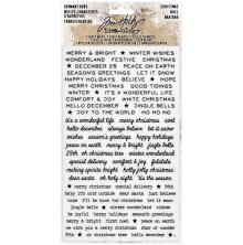 Tim Holtz Idea-Ology Remnant Rubs Rub-Ons - Christmas Words