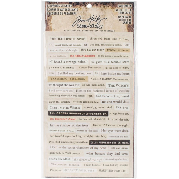 Tim Holtz Idea-Ology Clipping stickers - Halloween