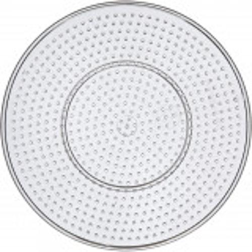 Pärlplatta, dia. 15 cm, transparent, stor rund