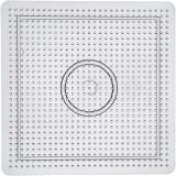 Pärlplatta, stl. 14,5x14,5 cm, transparent, stor kvadrat