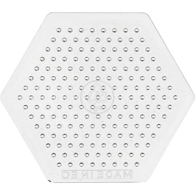 Pärlplatta, H: 7,5 cm, transparent, liten sexkantig