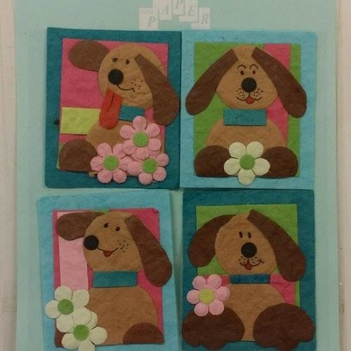 Handmade 3D Stickers, hund 012649