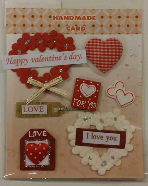 Handmade 3D Stickers, Love 012616