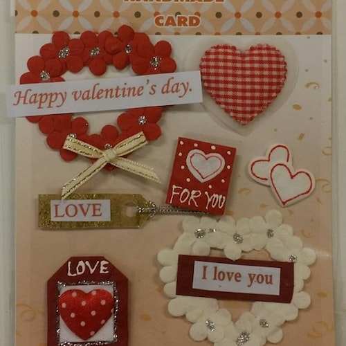 Handmade 3D Stickers, Love 012616