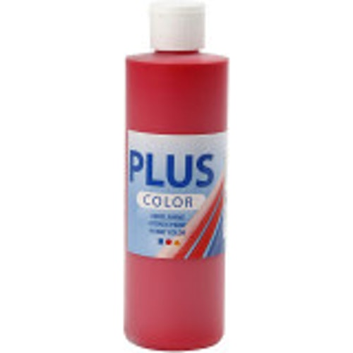 Plus Color, 250ml Akrylfärg, Crimson red