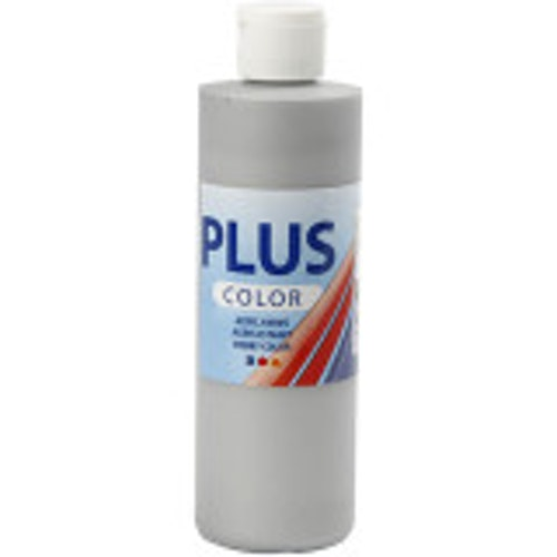 Plus Color, 250ml Akrylfärg, Silver