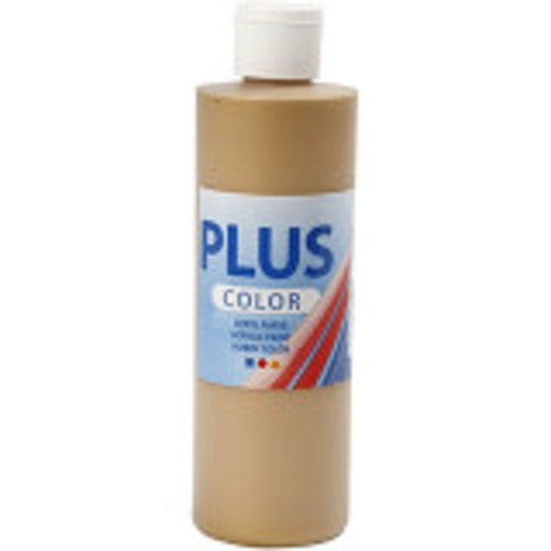 Plus Color, 250ml Akrylfärg, Gold