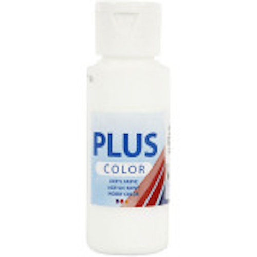 Plus Color hobbyfärg, white, 60ml