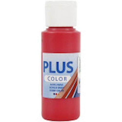 Plus Color hobbyfärg, crimson red, 60ml
