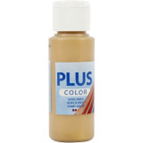 Plus Color hobbyfärg, gold, 60ml