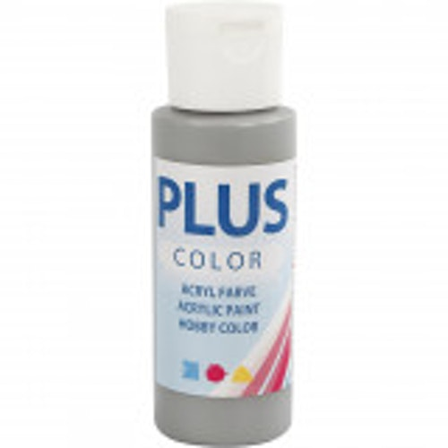 Plus Color hobbyfärg, rain grey, 60ml