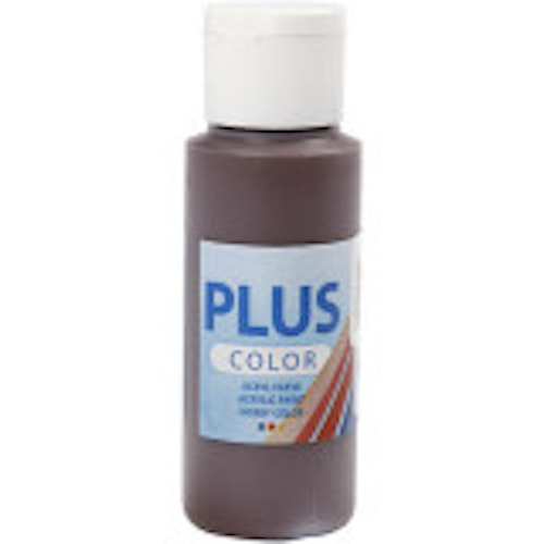 Plus Color hobbyfärg, chocolate, 60ml