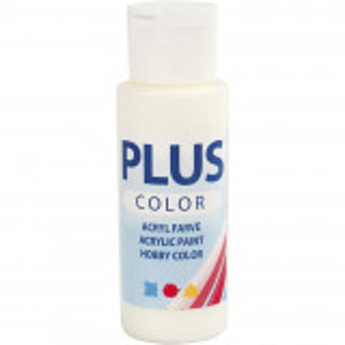 Plus Color hobbyfärg, off white, 60ml
