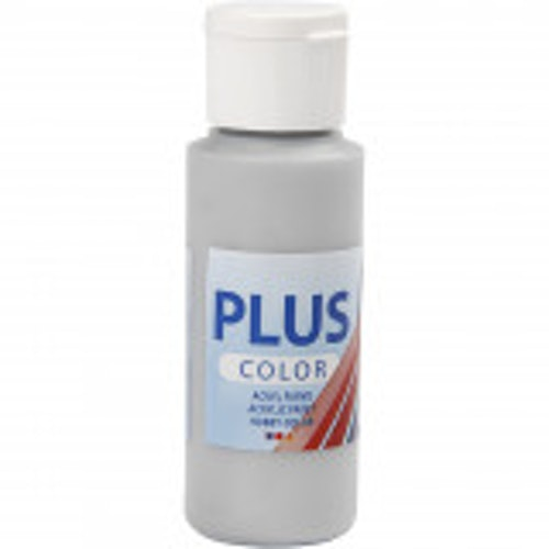 Plus Color hobbyfärg, silver, 60ml