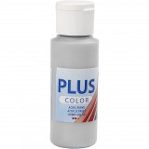 Plus Color hobbyfärg, silver, 60ml