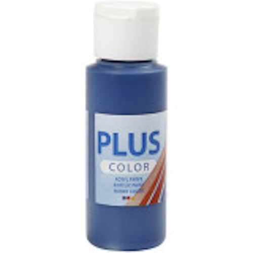 Plus Color hobbyfärg, navy blue, 60ml