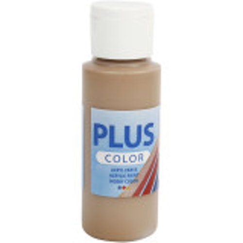 Plus Color hobbyfärg, light brown, 60ml