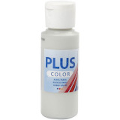 Plus Color hobbyfärg, light grey, 60ml