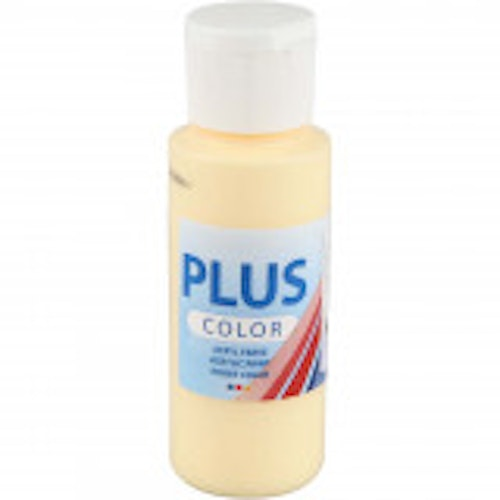 Plus Color hobbyfärg, light yellow, 60ml