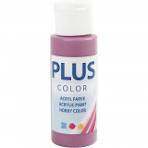 Plus Color hobbyfärg, red plum, 60ml