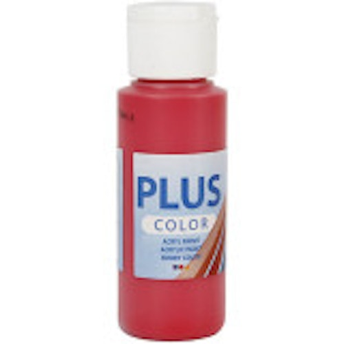 Plus Color hobbyfärg, berry red, 60ml