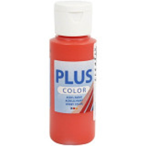 Plus Color hobbyfärg, brilliant red, 60ml